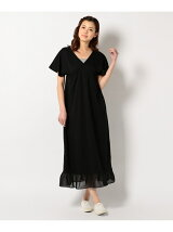 CHIFFON FRILL LONG DRESS