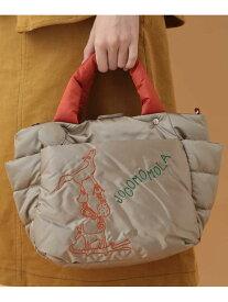 Jocomomola 【2WAY】アニマル刺繍キルティングミニトート ホコモモラ バッグ トートバッグ ベージュ ブルー【送料無料】