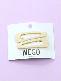 WEGO (L)カラーピン ウィゴー 帽子/ヘア小物 バレッタ/ヘアクリップ イエロー グリーン パープル ピンク ブラウン ベージュ