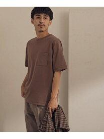 【SALE/30%OFF】DOORS ポンチポケットTシャツ アーバンリサーチドアーズ カットソー Tシャツ ホワイト ブラウン グリーン ブルー ブラック