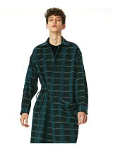WOOL CHECK LONG SHIRTS