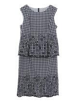 裾レース刺繍トップス&スカート【セットアイテム】