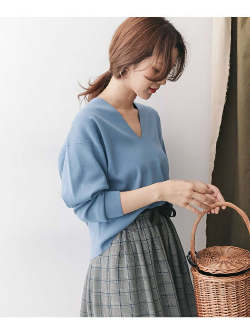 DOORS Vネックワイドルーズプルオーバー アーバンリサーチドアーズ ニット【送料無料】