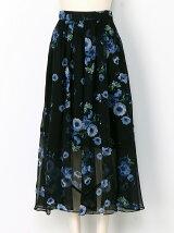 シアーフラワースカート