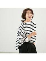 Traditional WeatherwearビッグマリンボートネックTシャツ