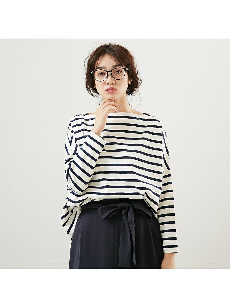 Rouge vif la cle Traditional WeatherwearビッグマリンボートネックTシャツ ルージュ・ヴィフ ラクレ【送料無料】