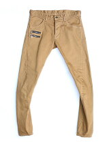 COTTON TWILL 3D SKINNY PANTS