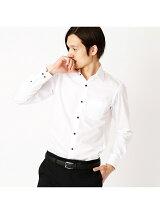 上品なイメージの白シャツ