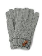 釦つきニット手袋