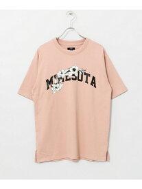 【SALE/55%OFF】ITEMS STATELOGOPRINTEDT-SHIRTS アーバンリサーチアイテムズ カットソー Tシャツ ピンク ホワイト ブラック