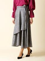 【秋の新作】チェック柄ラップスカート