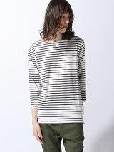 (M)ZIP FIVE ストレッチ7分袖バスクシャツ