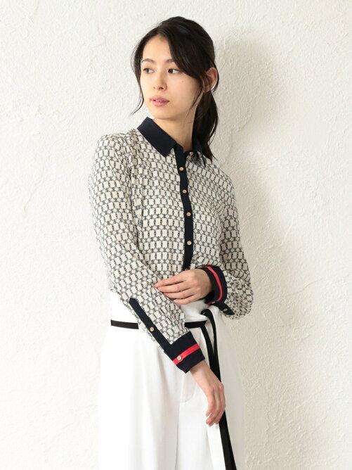 【LOVELESS】WOMEN ベルトリングクレリックシャツ