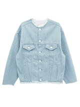 nocollar denimjacket