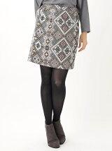 コブラン織り台形スカート