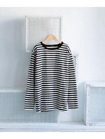 【SALE/60%OFF】EKAL EKAL 度詰めボーダーロングスリーブTシャツ アーバンリサーチドアーズ カットソー Tシャツ ブラック