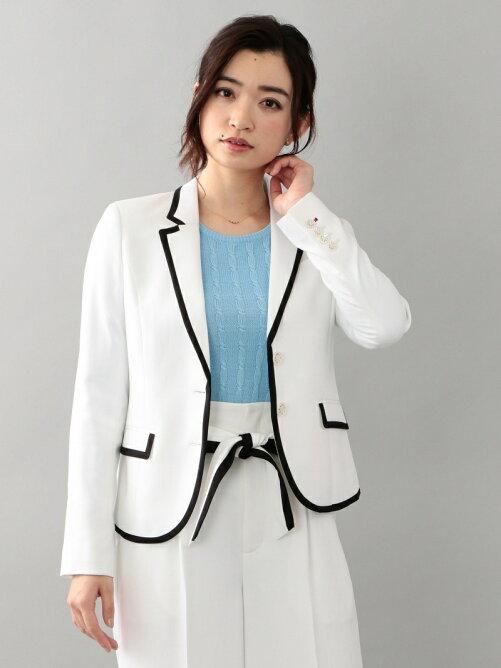 【LOVELESS】麻調ホワイトパイピングジャケット