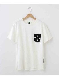 【SALE/30%OFF】BASECONTROL 【WEB限定】ボーダースター異素材ポケットTシャツ ベース ステーション カットソー Tシャツ ホワイト グレー ネイビー ブラック