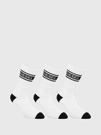 DIESEL SKM-RAY-THREEPACK ディーゼル ファッショングッズ ソックス/靴下 ホワイト