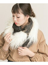 mix fur snood