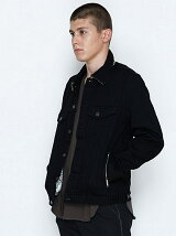 DENIM JACKET_STRETCH DENIM(LEOPARD)