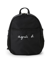 agnes b. ENFANT ENFANT/(K)GL11 E BAG ロゴ刺繍ミニリュックサック アニエスベー バッグ キッズバッグ ブラック【送料無料】