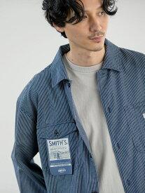 coen SMITH'S(スミス)別注レギュラーシャツ コーエン シャツ/ブラウス 長袖シャツ ネイビー ホワイト ブラック
