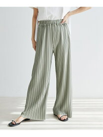 ViS 【ドラマ着用】【vis-`a-vis】美シルエットランダムプリーツパンツ ビス パンツ/ジーンズ パンツその他 グリーン ブラック ブラウン ベージュ