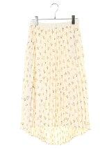 花柄イレヘムプリーツスカート