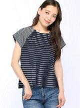 (W)切り替えボーダーTシャツ・カットソー(日本限定)