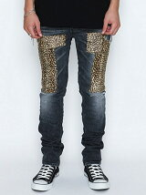 SKINNY PANT_STRETCH DENIM(DAMAGE_LEOPARD)