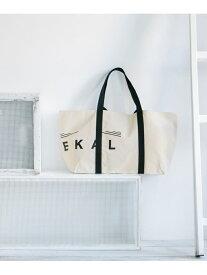 【SALE/50%OFF】EKAL EKAL キャンバスロゴトートバッグL アーバンリサーチドアーズ バッグ トートバッグ ブラウン ブラック