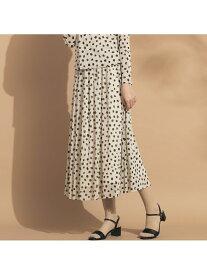 【SALE/20%OFF】Liliane Burty ECLAT ドットチュール オールゴムスカート【セットアップ可】 リリアンビューティ エクラ スカート スカートその他 ベージュ ブルー【送料無料】
