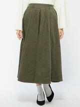 (W)コーデュロイロングスカート