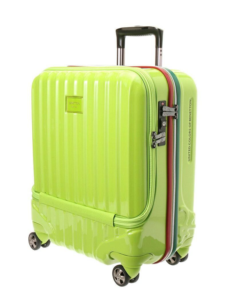 【SALE/20%OFF】BENETTON フロントオープンキャリーケース・スーツケース(M)機内持込可 容量約38L ベネトン バッグ【RBA_S】【RBA_E】【送料無料】