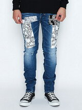 SKINNY PANT_STRETCH DENIM(DAMAGE_NOTE)