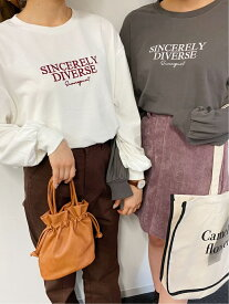 【SALE/38%OFF】INGNI SWEETロゴロンT イング カットソー Tシャツ ホワイト グレー ベージュ グリーン