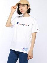 Championロゴ刺繍半袖Tシャツ