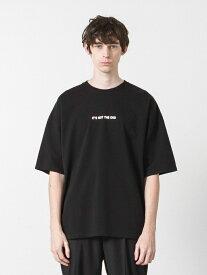 SLICK ドロップショルダープリントTシャツ スリック カットソー Tシャツ ブラック ベージュ ホワイト【送料無料】