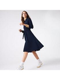 【SALE/30%OFF】LACOSTE ベルトデザインポロシャツドレス ラコステ ワンピース シャツワンピース ネイビー【送料無料】