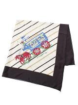 馬車柄プリント スカーフ