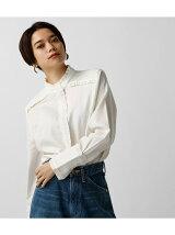 フリルデザインシャツ