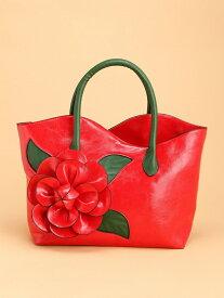 fiore fiore/(W)ビッグフラワートート ファッションバッグプラザ ラミー バッグ トートバッグ レッド ブラック ホワイト【送料無料】