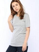 (W)ループロゴUネック半袖Tシャツ・カットソー