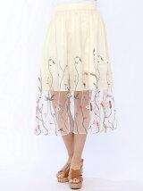【Dukkah】(L)刺繍チュールロングスカート