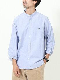 【SALE/20%OFF】coen オックスフォードバンドカラーシャツ コーエン シャツ/ブラウス 長袖シャツ ネイビー ホワイト