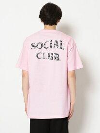 【SALE/30%OFF】LHP AntiSocialSocialClub/アンチソーシャルソーシャルクラブ/GEMINI TEE/グラフィックプリントTシャツ エルエイチピー カットソー Tシャツ ピンク ブラック【送料無料】