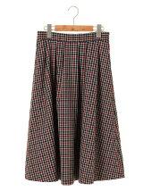 ガンクラブチェック フレアギャザースカート