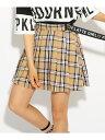 PINK-latte ★ニコラ掲載★サイドベルト プリーツ スカート ピンク ラテ スカート