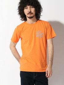 【SALE/60%OFF】nano・universe Selected :Paradise Neon TシャツSS ナノユニバース カットソー Tシャツ オレンジ ブラック ホワイト